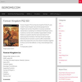 Forever Kingdom PS2 ISO – ISOROMS.COM