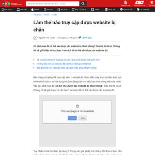 Làm thế nào truy cập được website bị chặn - Fptshop.com.vn