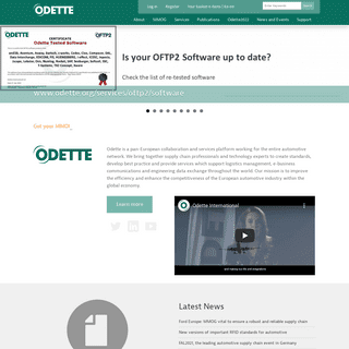 Odette International - logistics management, e-business communications and engineering data exchange for the automotive industry