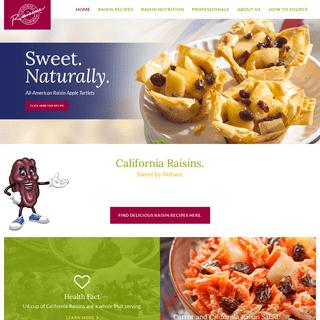 Home - California Raisins
