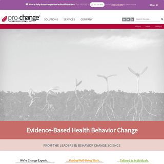 Pro-Change Behavior Systems - Evidence-based Health and Wellness Apps