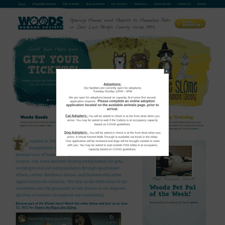 Woods Humane Society - Home Page