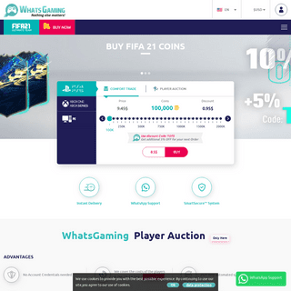 WhatsGaming - Buy cheap FIFA Coins Fast & Secure!