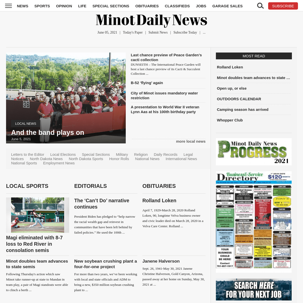 News, Sports, Jobs - Minot Daily News
