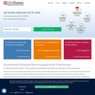 Finanzberatung & Vermögensberatung- Bewertung Finanzberater