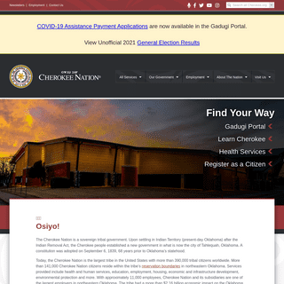 Cherokee Nation Home--Cherokee Nation Website