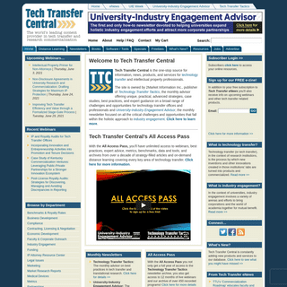 Tech Transfer Central- The world`s leader in technology transfer resources