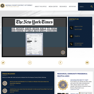 Nassau County DA,NY - Official Website