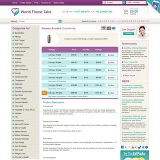 Buy Avodart 0,5 mg Online • Lowest Prices