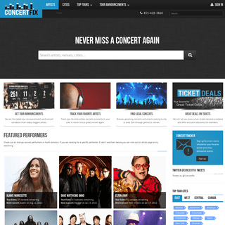 ConcertFix- Feed your addiction with tour dates, news & tickets