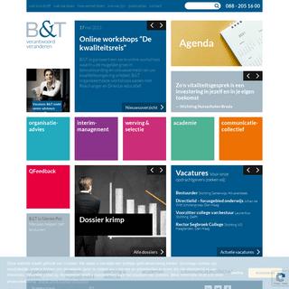 Welkom bij B&T - organisatieadviesbureau voor het onderwijs