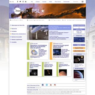 Observatoire de Paris - PSL Centre de recherche en astronomie et astrophysique