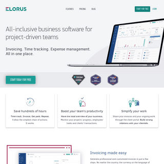 All-inclusive business software for project-driven teams - Elorus