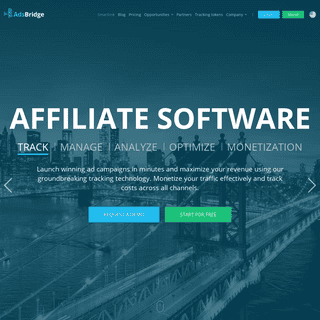 Affiliate Tracking Software for marketers and media buyers - AdsBridge