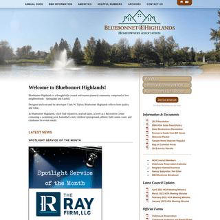 Bluebonnet Highlands Homeowners Association