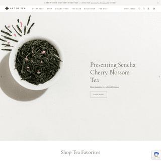Tea Shop - Organic Loose Leaf Teas, Tea Bags & Tea Gifts - Art of Tea