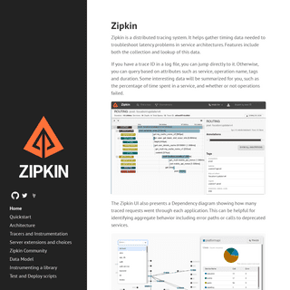 OpenZipkin · A distributed tracing system
