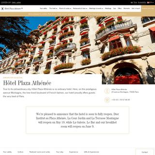 Hôtel Plaza Athénée - 5-star luxury hotel - Dorchester Collection