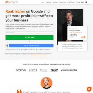 Keyword Research Tool for SEO & Google Ads - SECockpit