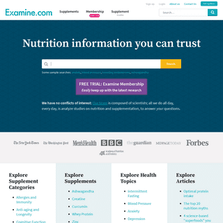 Independent Analysis on Supplements & Nutrition - Examine.com