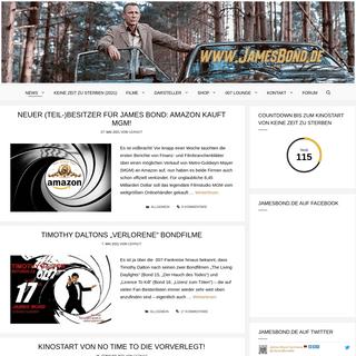 JamesBond.de - Alles über Keine Zeit zu Sterben (No Time To Die) und James Bond 007.