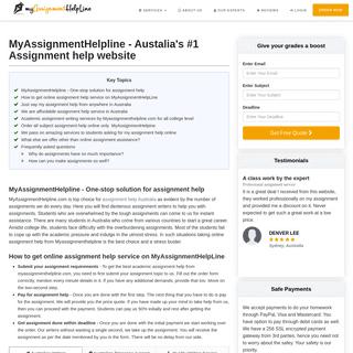 MyAssignmentHelpline - My Assignment Help Australia