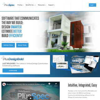 PlusSpec - A powerful, affordable and easy to learn 3D BIM software.