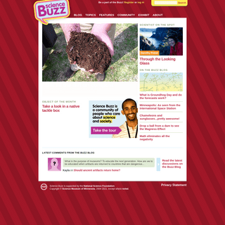 Homepage - Science Buzz