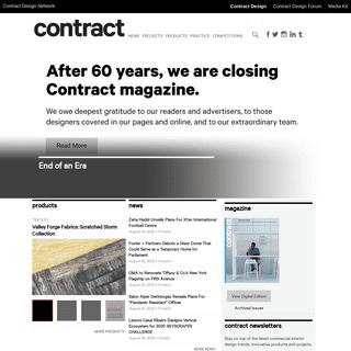 Contract Design - Commercial Interior Design Magazine