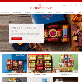 Hickory Farms- Gift Baskets & Specialty Gourmet Food Gifts