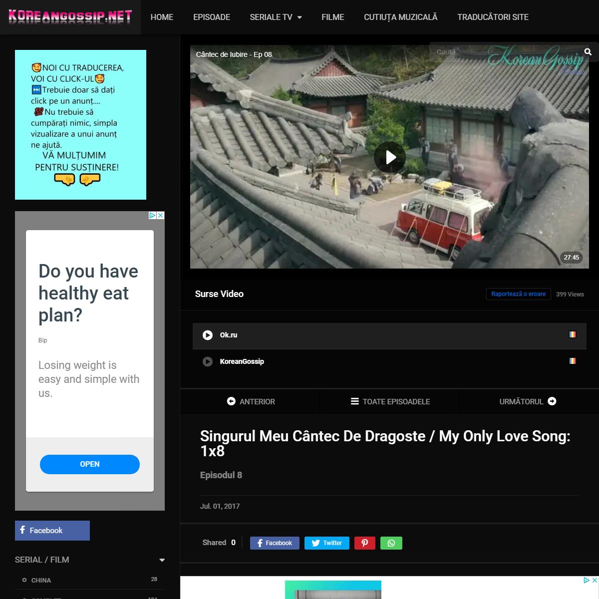 My Only Love Song- 1×8 – Korean Gossip – România