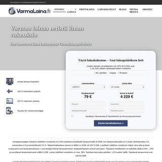 Lainaa heti ilman vakuuksia 60 000 € asti - VarmaLaina.fi