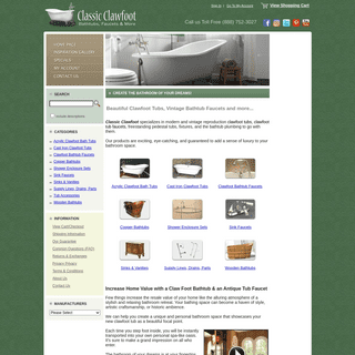 Clawfoot Tubs, and Clawfoot Tub Faucets for your Dream Bathroom