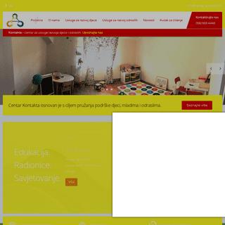 Centar Kontakta - Edukacijsko - rehabilitacijske usluge za djecu i odrasle