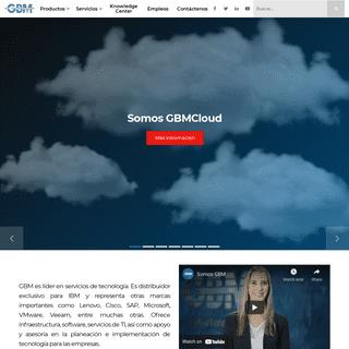 GBM - Distribuidor de IBM, Lenovo, Microsoft, y servicios de TI, GBM as a Service