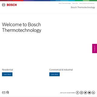 Welcome to Bosch Thermotechnology