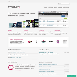 Symphony. An open source CMS.