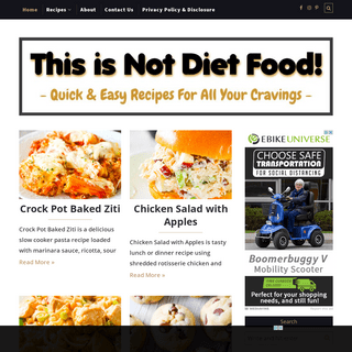 This is Not Diet Food - Food Blog Featuring Quick and Easy Recipes!