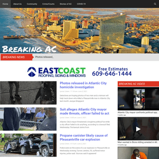 BreakingAC – News site covering community, crime and breaking news based in the Atlantic City, NJ area, including Atlantic Cou