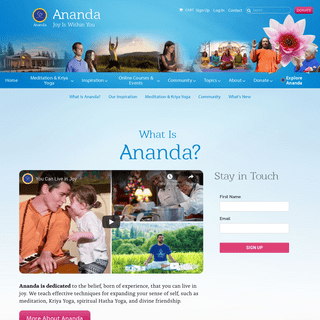 Ananda- A Worldwide Movement to Help You Find Joy Within Yourself