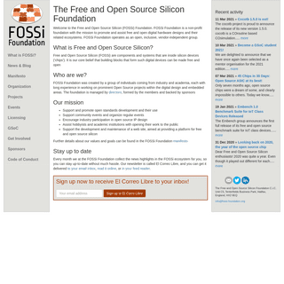 The Free and Open Source Silicon Foundation