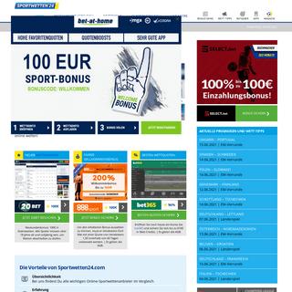 Die besten Sportwettenanbieter online auf Sportwetten24.com