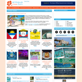 Antigua and Barbuda Caribbean Vacation travel and tourism holiday information guide