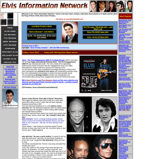 The Elvis Information Network home to the best news, reviews, interviews, Elvis photos&in-depth articles about the King of Rock&