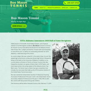 Boo Mason Tennis - Hoover, AL - Tennis Coaching Services