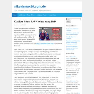 nikeairmax90.com.de - Agen Slot Online Resmi Situs Judi Online Terpercaya Indonesia