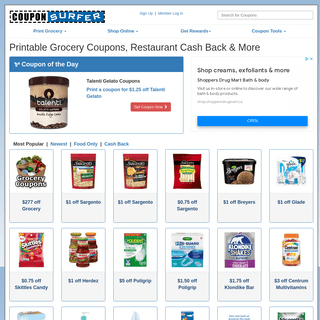 Printable Grocery Coupons, Dining Discounts & More - CouponSurfer