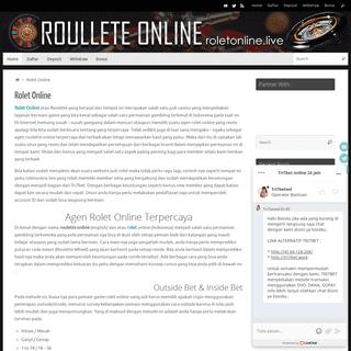 Judi Rolet Online - Daftar Roulette Online Terpercaya
