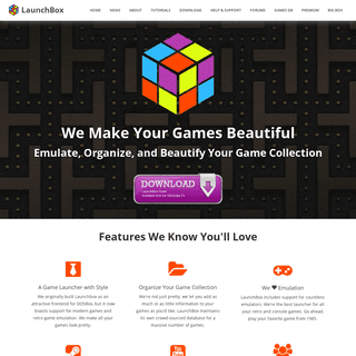 LaunchBox Frontend for Emulation, DOSBox, and Arcade Cabinets, Portable Games Launcher and Database