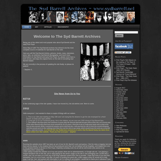 The Syd Barrett Archives - The home of all things Syd BarrettThe Syd Barrett Archives